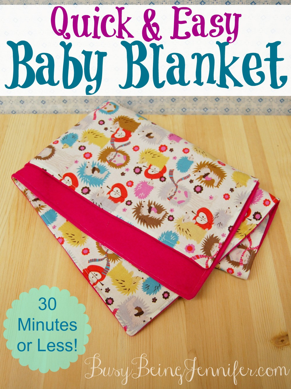 Easy Baby Blanket Lovely A Quick and Easy Baby Blanket Busy Being Jennifer Of Marvelous 42 Images Easy Baby Blanket