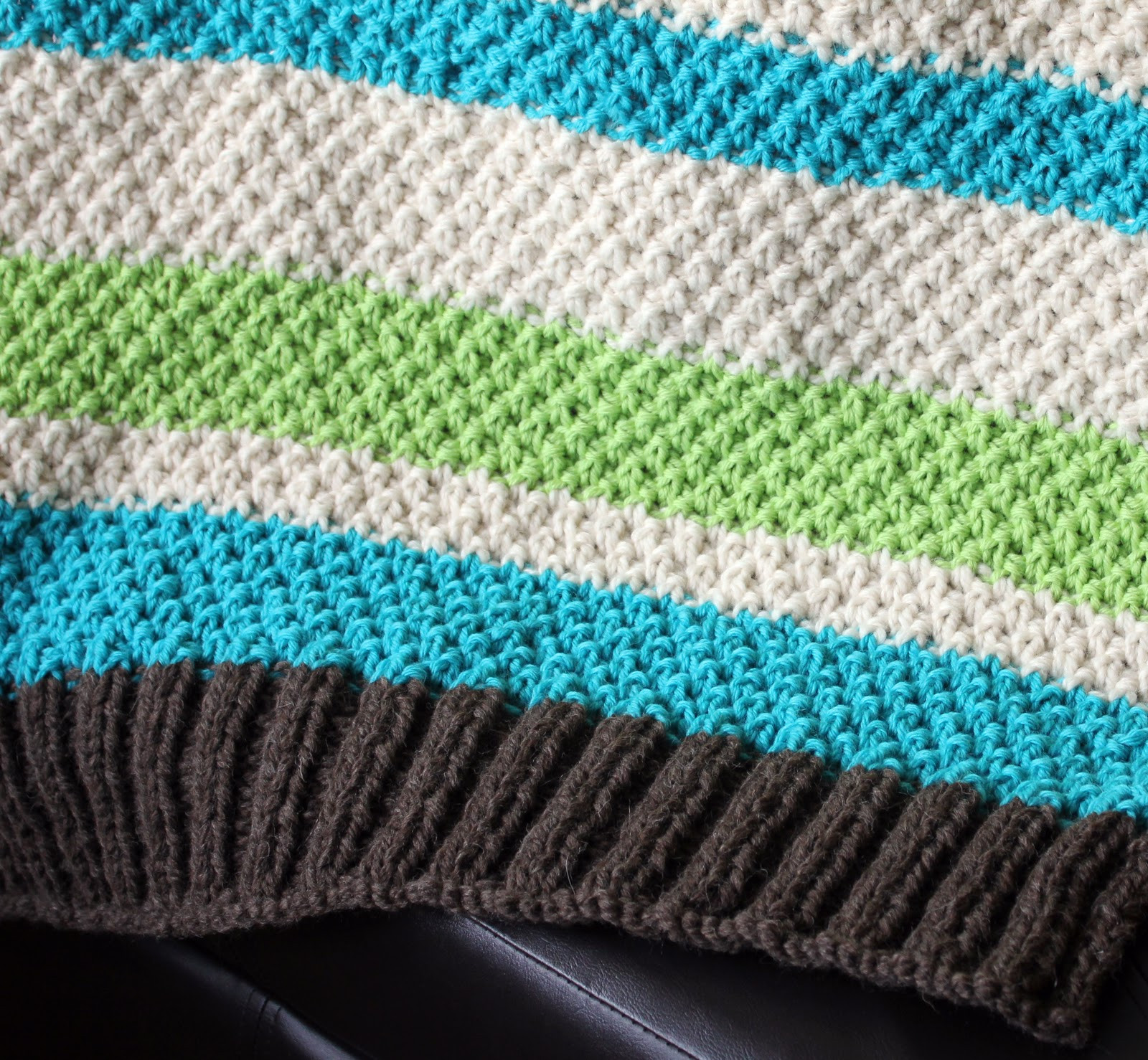 learn to knit free n easy baby blanket