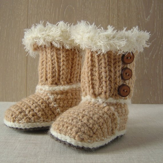 Easy Baby Booties Crochet Pattern Unique Crochet Pattern Ugg Booties Easy Baby Shoes by Matildasmeadow Of Innovative 47 Ideas Easy Baby Booties Crochet Pattern