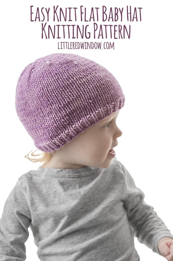 Easy Baby Knitting Patterns Lovely Easy Knit Flat Baby Hat Knitting Pattern Little Red Window Of Innovative 50 Photos Easy Baby Knitting Patterns