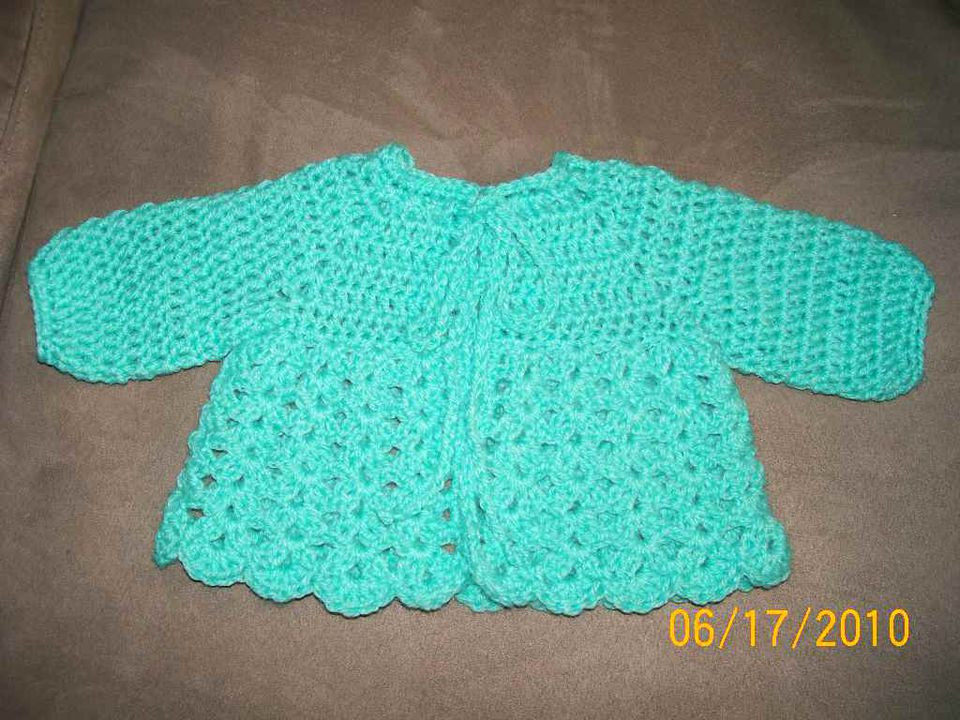 Shell Sweater Baby Crochet Pattern Sweater Vest
