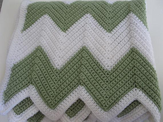 Easy Chevron Crochet Blanket Any Size by Kathie SewHappy