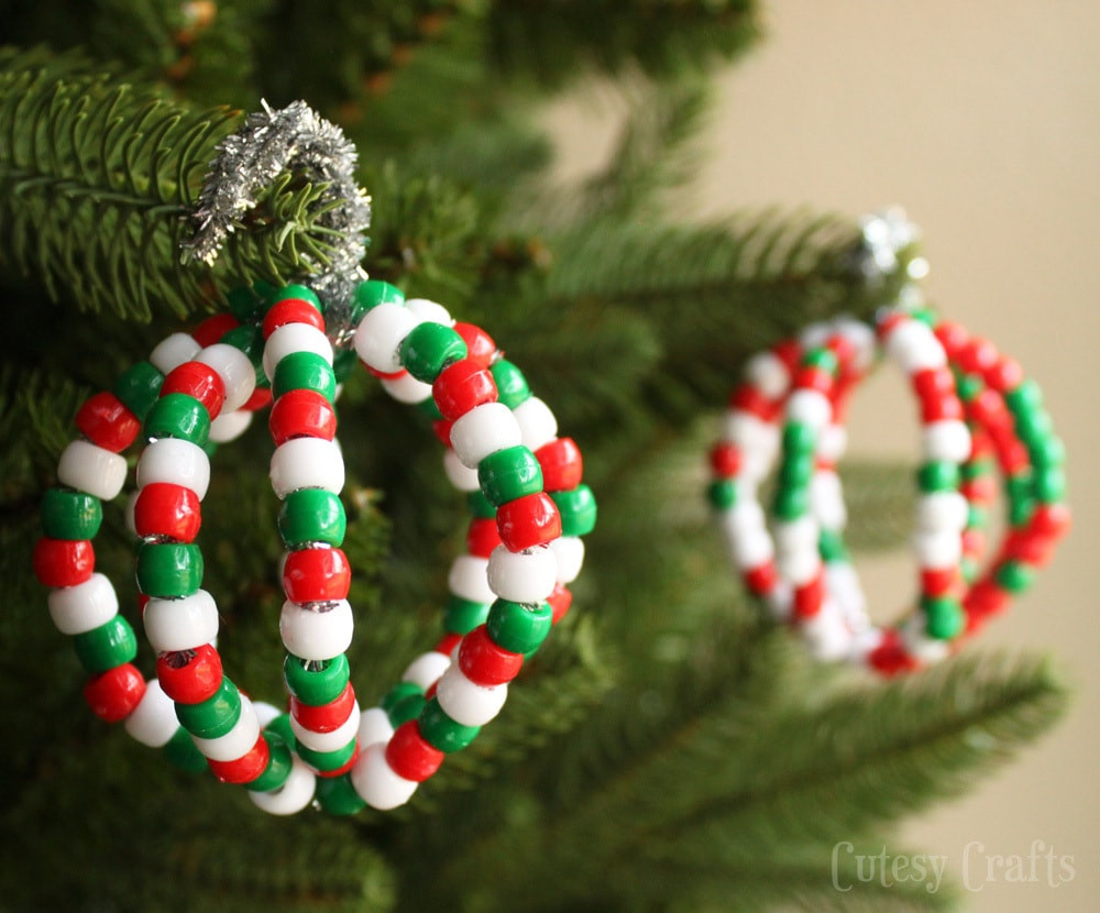 Easy Christmas ornaments Lovely Pony Bead Christmas ornaments Cutesy Crafts Of Superb 49 Pics Easy Christmas ornaments
