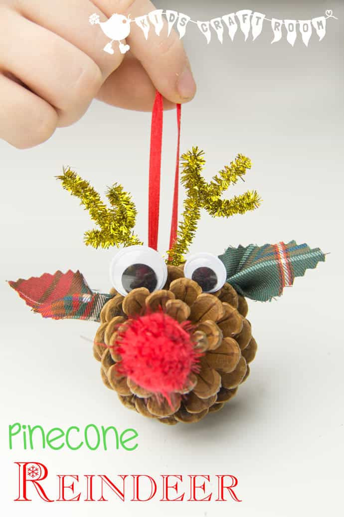 Easy Christmas ornaments to Make Beautiful Pinecone Reindeer Homemade ornaments Kids Craft Room Of Incredible 43 Models Easy Christmas ornaments to Make