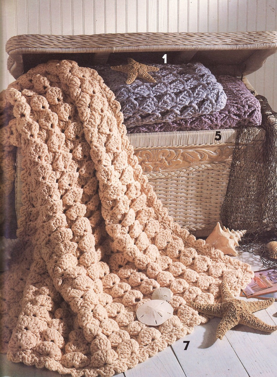 Quick & Easy Shell Afghans Crochet Patterns Book Afghans