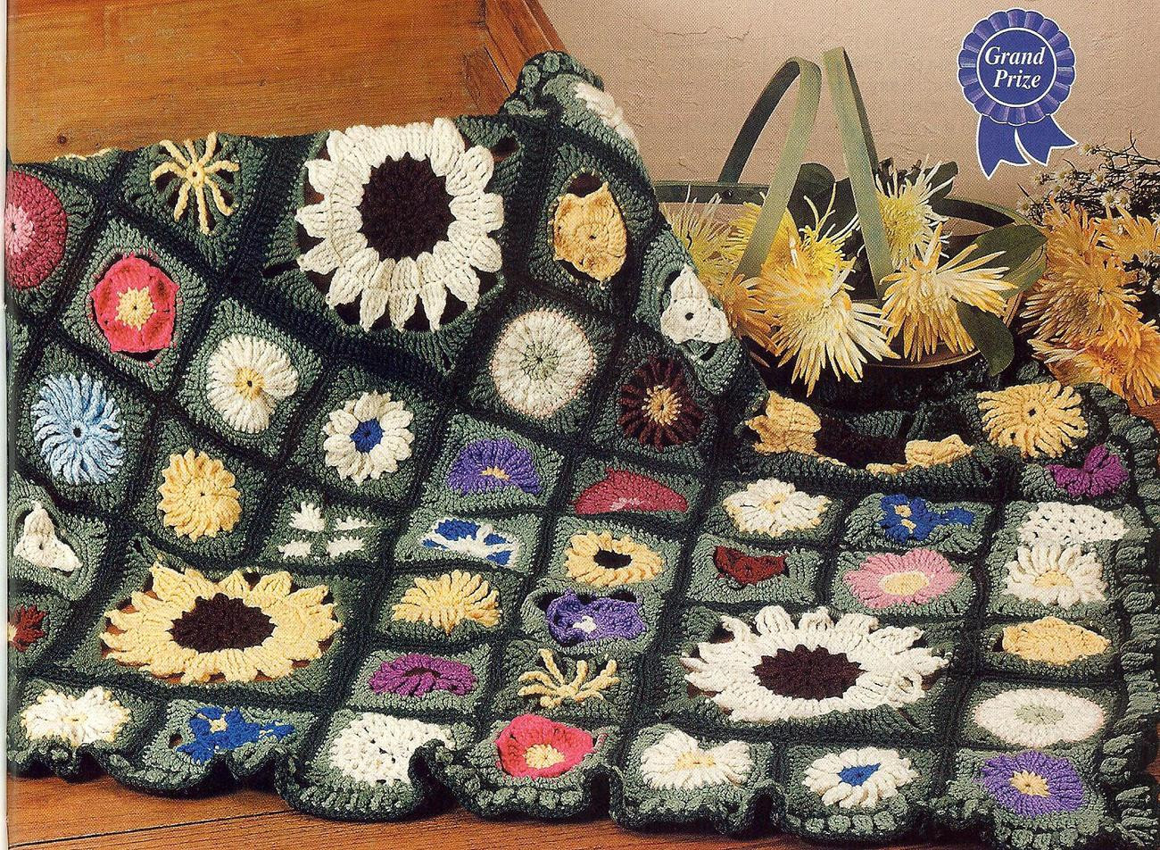Easy Crochet Afghan Patterns Awesome Award Winning Field Of Flowers Crochet Afghan Pattern Of Wonderful 45 Pics Easy Crochet Afghan Patterns