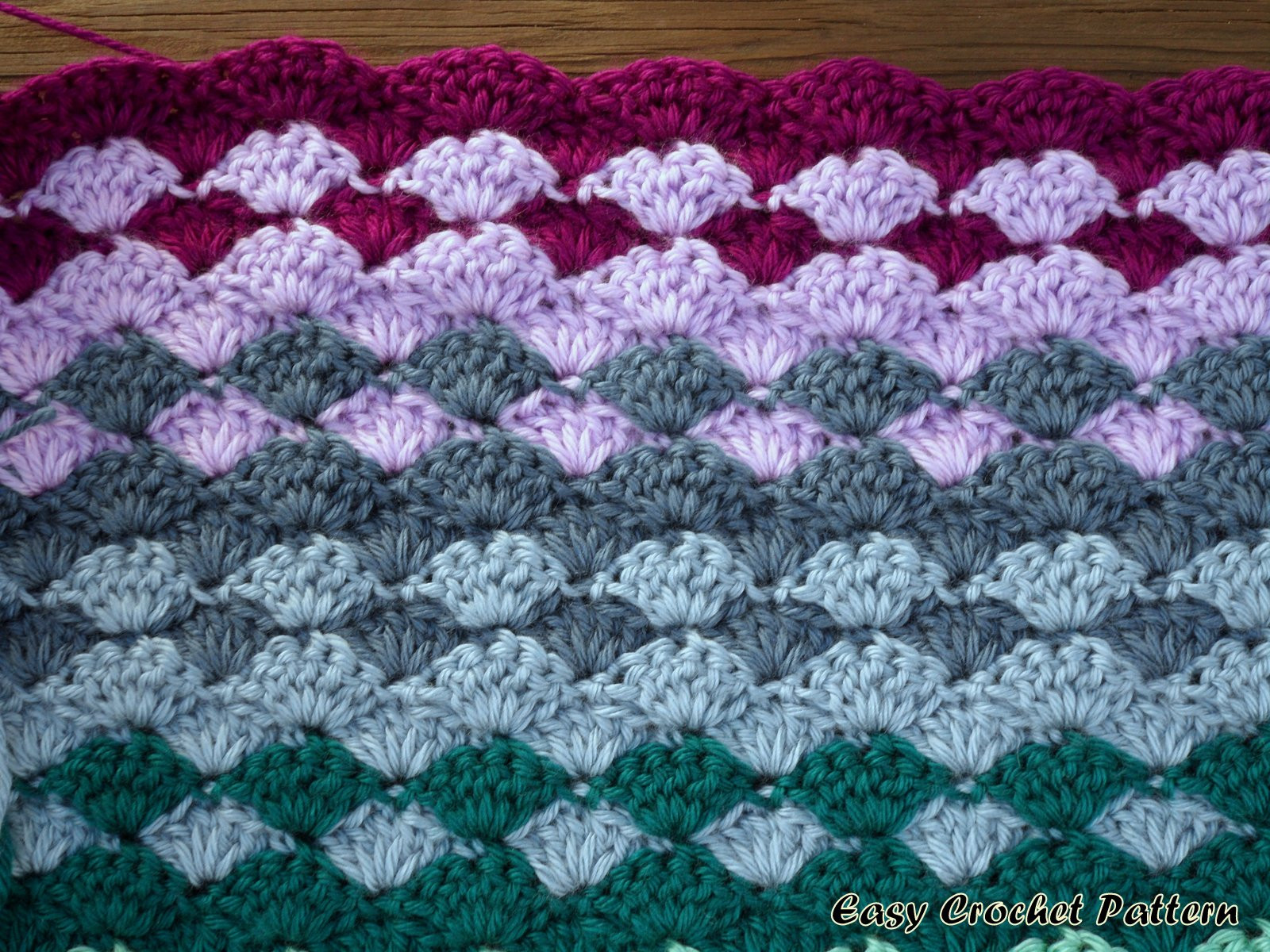 Easy Crochet Afghan Patterns Awesome Easy Crochet Pattern Shell Afghan A New Project Started Of Wonderful 45 Pics Easy Crochet Afghan Patterns