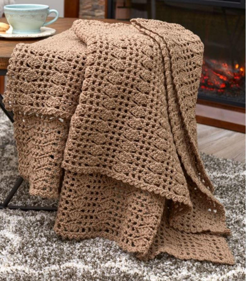 Easy Crochet Afghan Patterns Unique Classically Simple Shell Of Wonderful 45 Pics Easy Crochet Afghan Patterns