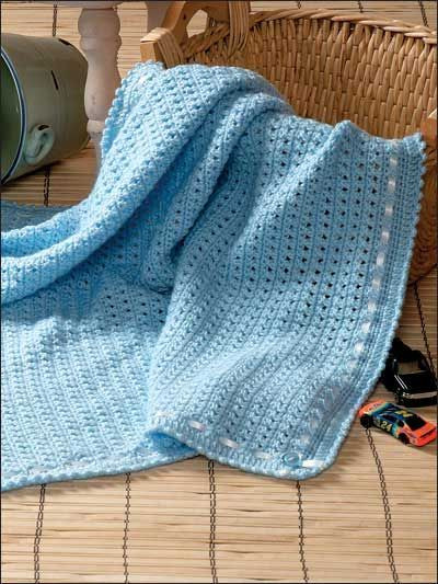 Boy Wrapper Crochet Baby Afghan Pattern This super