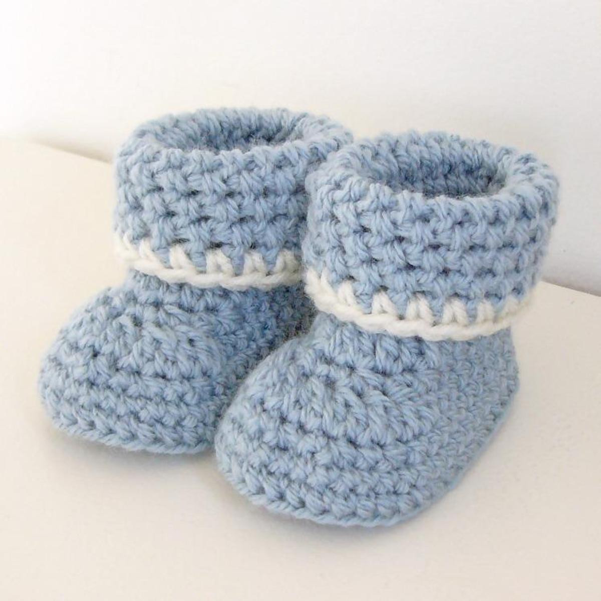 Easy Crochet Baby Booties Awesome Cozy Cuffs Crochet Baby Booties Pattern Of Great 49 Ideas Easy Crochet Baby Booties