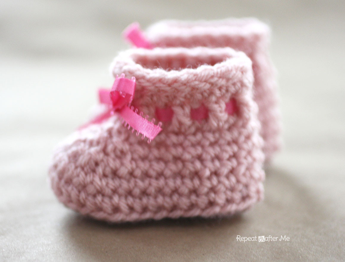 Easy Crochet Baby Booties Lovely Crochet Newborn Baby Booties Pattern Repeat Crafter Me Of Great 49 Ideas Easy Crochet Baby Booties