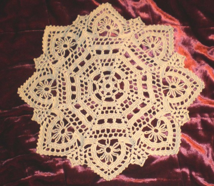 crocheted lace Elegant and Easy Doily