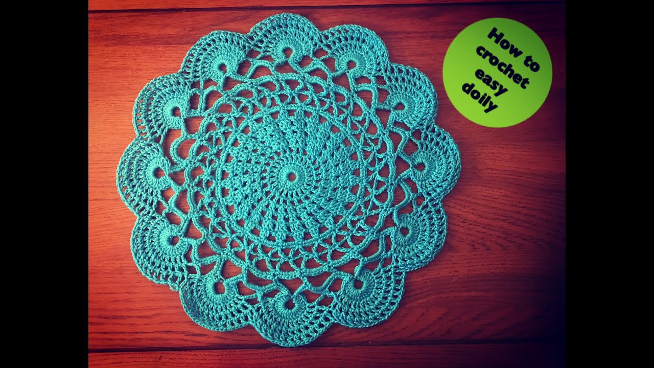 How to crochet easy doily