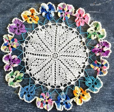 Easy Crochet Doily Patterns Beautiful Crochet Pansies Tutorial Watch the Video now Of Adorable 43 Pictures Easy Crochet Doily Patterns