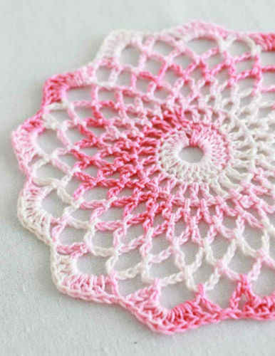 Easy Crochet Doily Patterns Inspirational Free Crochet Pattern Shaded Pinks Doily 86 Of Adorable 43 Pictures Easy Crochet Doily Patterns
