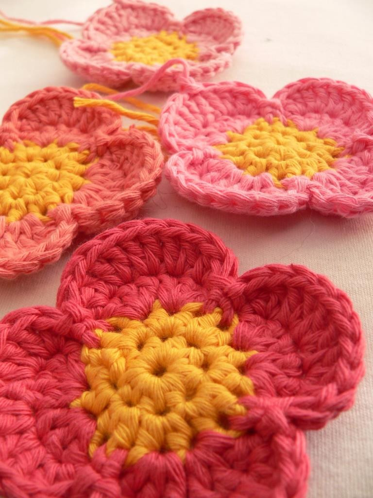 Easy Crochet Flower Pattern Fresh Simple Crochet Flower ⋆ Look at What I Made Of Beautiful 46 Pictures Easy Crochet Flower Pattern