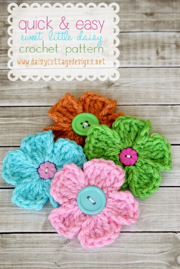 Easy Crochet Flower Pattern Unique 11 Easy and Simple Free Crochet Flower Patterns and Tutorials Of Beautiful 46 Pictures Easy Crochet Flower Pattern