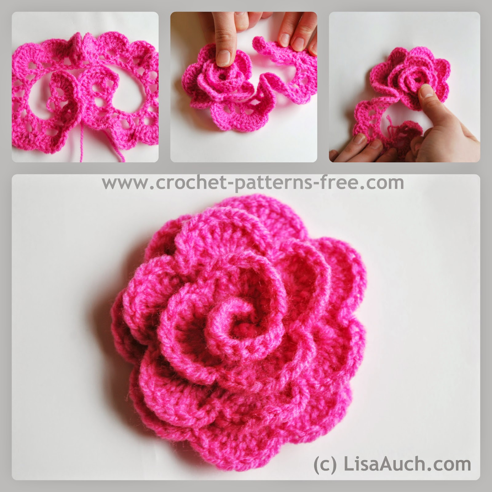 how to crochet little flowers Crochet and Knit