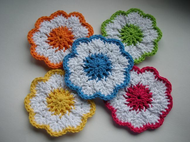 Easy Crochet Flower Patterns Free Beautiful 21 Easy Crochet Coaster Patterns Of Innovative 47 Images Easy Crochet Flower Patterns Free