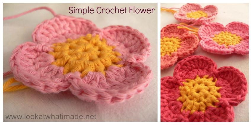 Easy Crochet Flower Patterns Free Best Of Simple Crochet Flower ⋆ Look at What I Made Of Innovative 47 Images Easy Crochet Flower Patterns Free