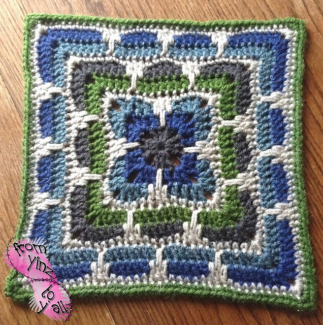 """[Free Pattern] This Larksfoot Inspired 12"""" Granny Square"""