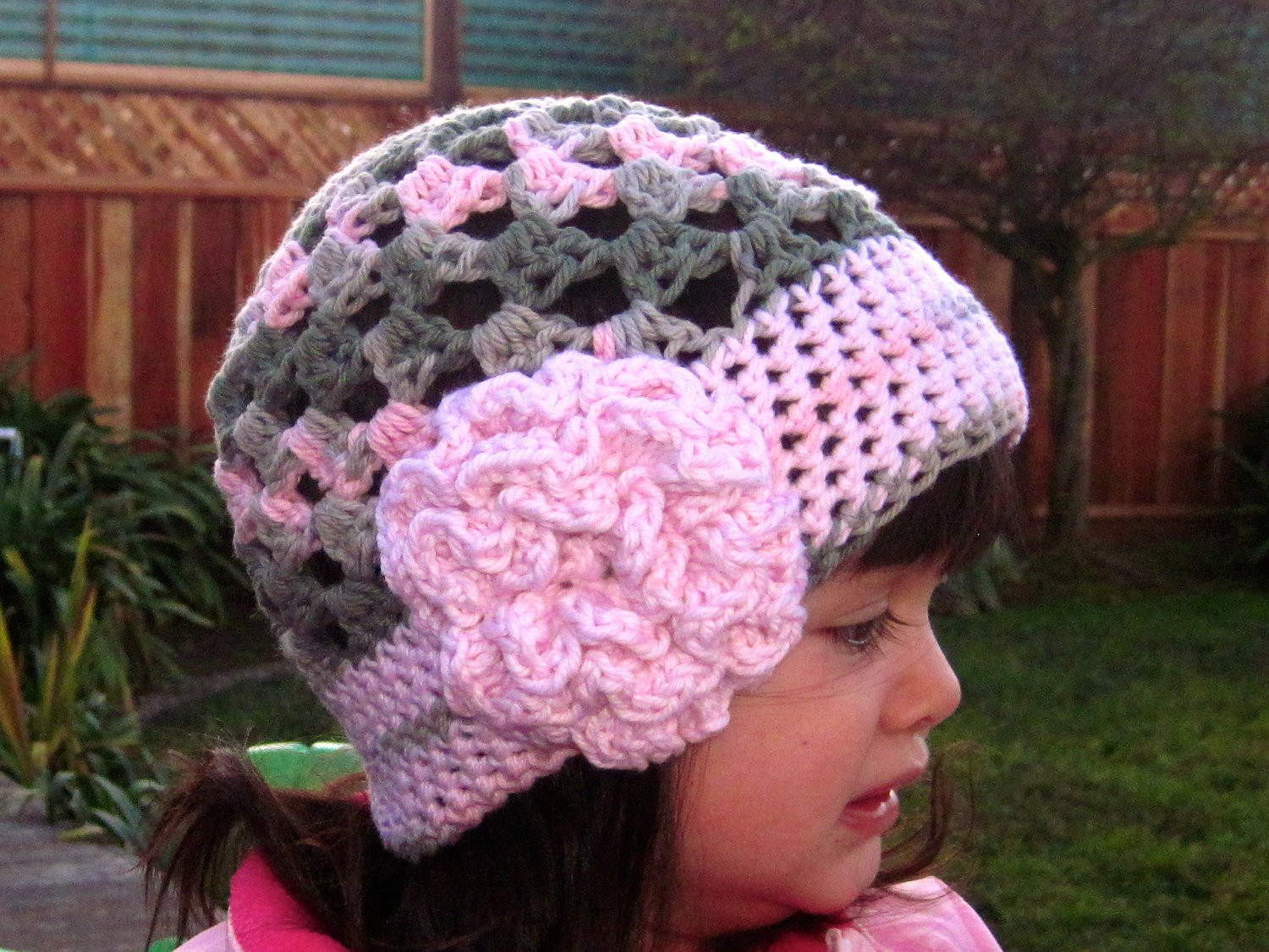 Cute Stuff Beanie crochet hat pattern PDF easy to make