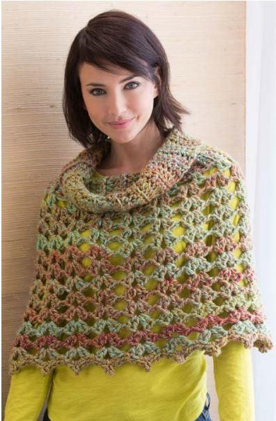 Easy Crochet Poncho Pattern Luxury Chic Cowl Neck Poncho Of Amazing 43 Pics Easy Crochet Poncho Pattern