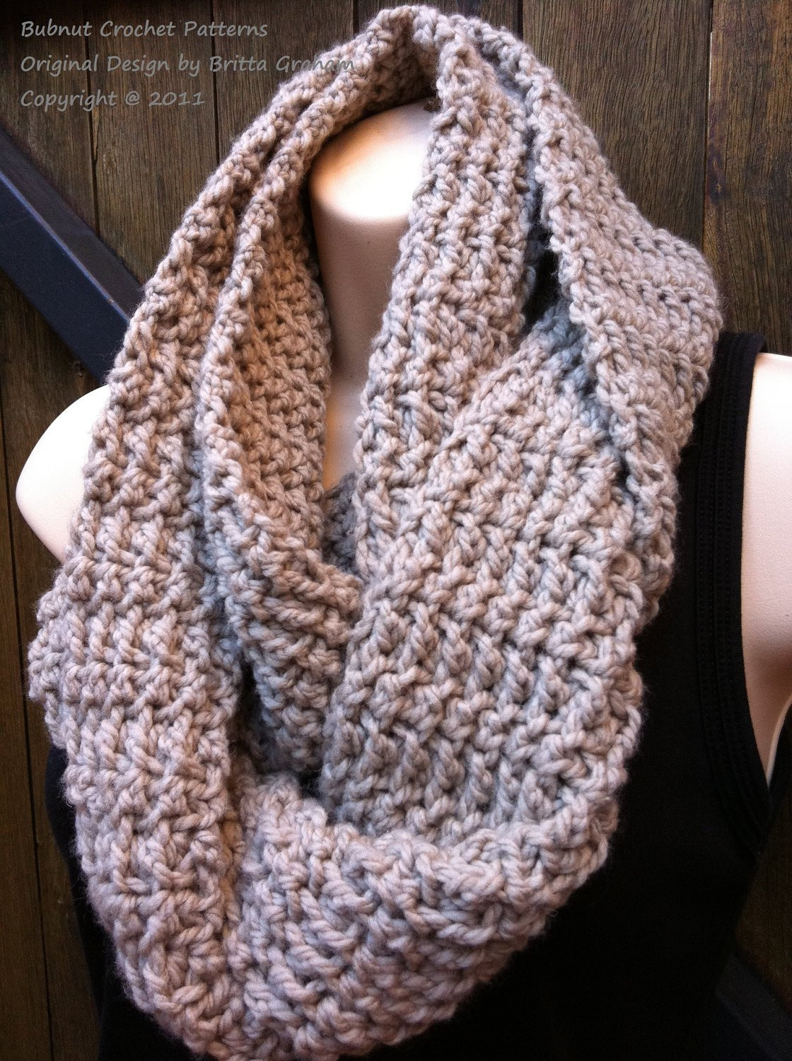 Easy Crochet Scarf Patterns Fresh Scarf Crochet Pattern No 502 Easy Peasy Infinity Cowl Of Attractive 42 Ideas Easy Crochet Scarf Patterns