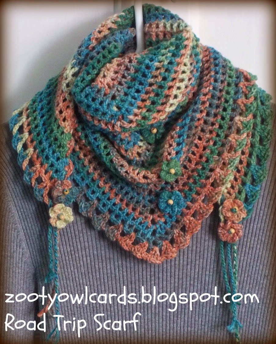 Easy Crochet Scarf Patterns Inspirational Zooty Owl S Crafty Blog Road Trip Scarves Pattern Of Attractive 42 Ideas Easy Crochet Scarf Patterns