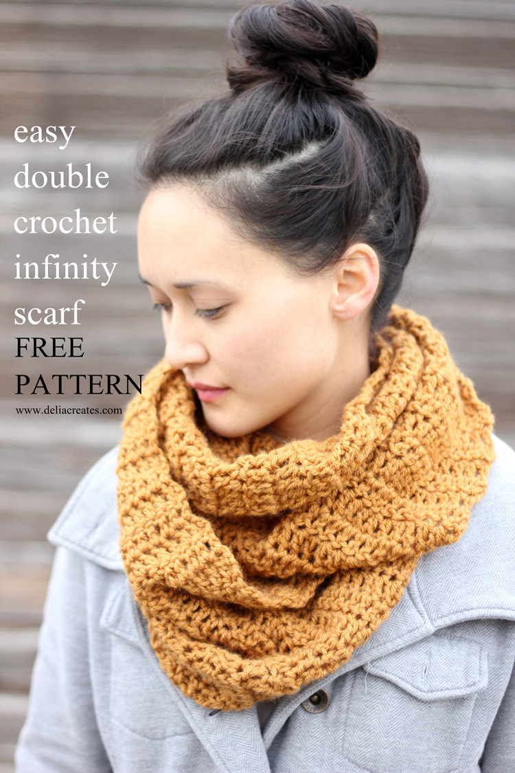 Easy Crochet Scarf Patterns Unique Double Crochet Infinity Scarf – Free Pattern Of Attractive 42 Ideas Easy Crochet Scarf Patterns