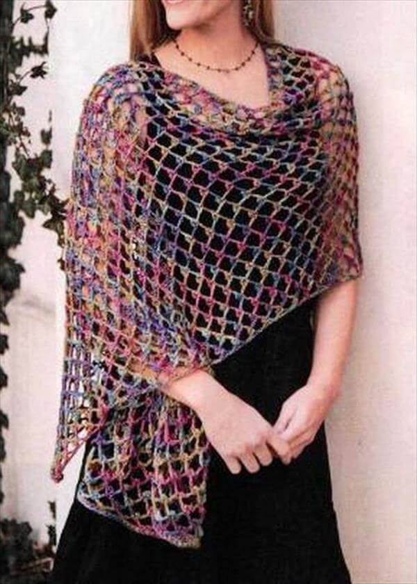 Easy Crochet Shawl Awesome 15 Diy Free Crochet Shawl Patterns Of Beautiful 40 Models Easy Crochet Shawl