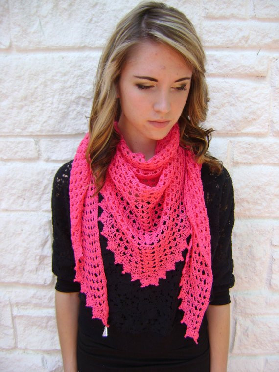 Easy Crochet Shawl Lovely Triangle Shawl or Scarf Pattern Easy Crochet by Of Beautiful 40 Models Easy Crochet Shawl