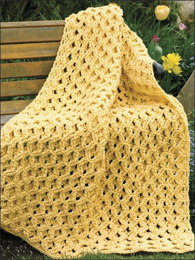 Shadow Box Trellis Afghan Crochet Pattern Download from e