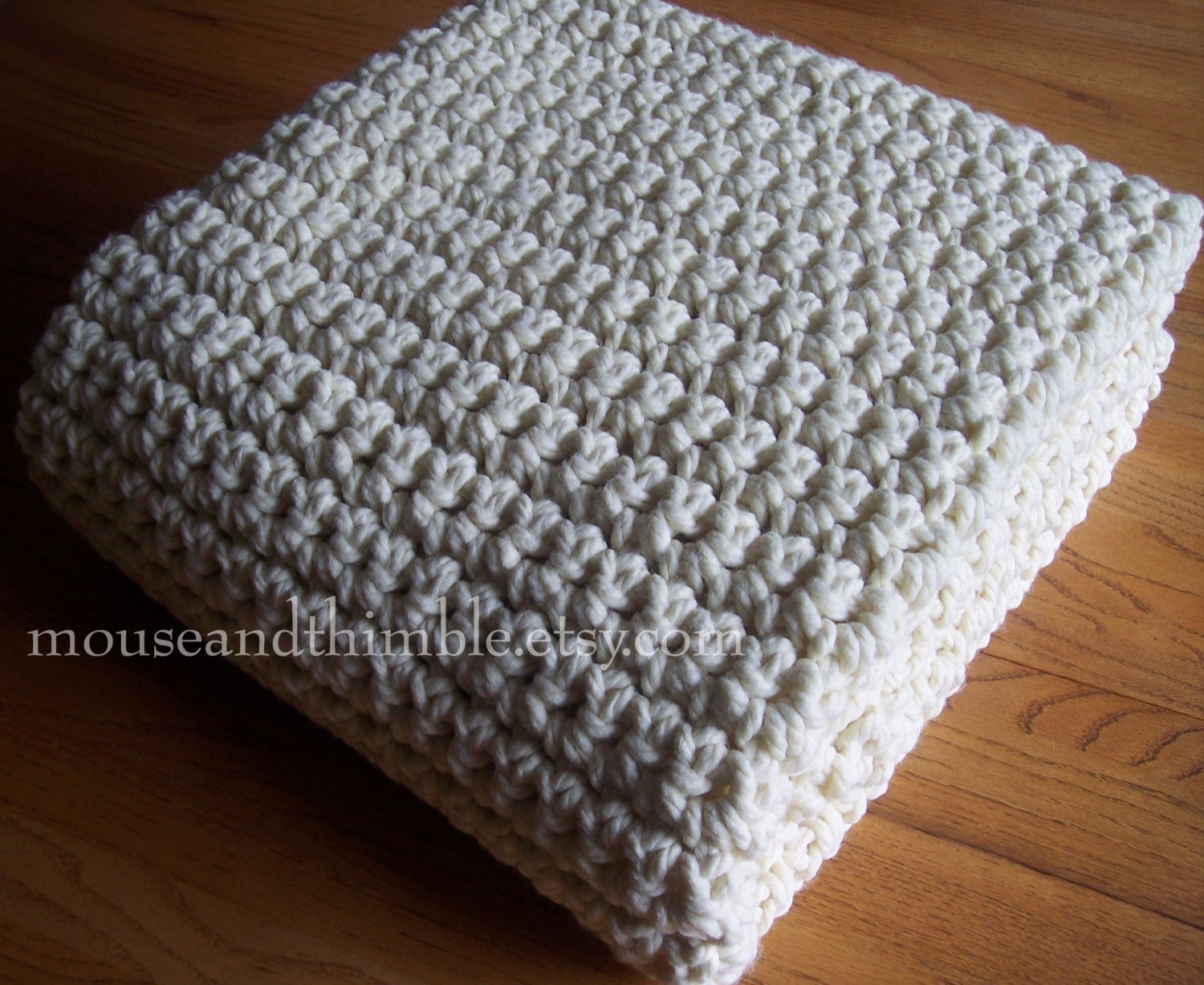 Extra Chunky Afghan Blanket Easy Crochet by