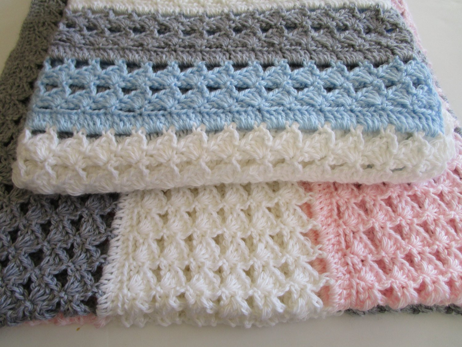 Easy Crochet Blanket Pattern Slanted Shell Stitch Variation