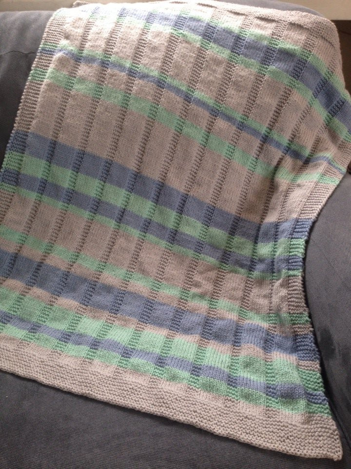 Easy Knit Baby Blanket New Knitting A Simple Striped Baby Blanket Of Fresh 48 Pics Easy Knit Baby Blanket