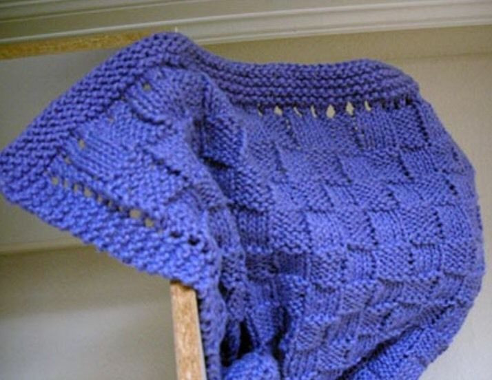 Cb5 Knitting Pattern For Basket Weave Cotton Yarn Baby