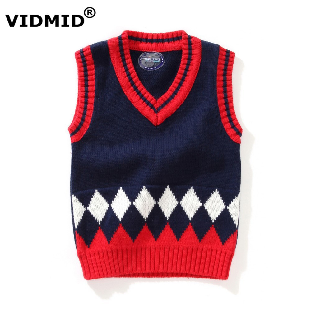 1 5Y Baby Boy V neck Sweater Vest Children sweatercoat