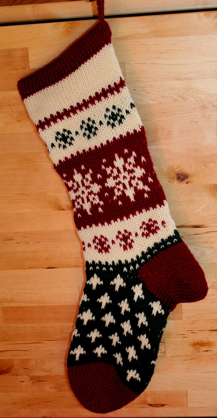 Elegant 1000 Images About Christmas Stockings On Pinterest Knit Stocking Pattern Of Attractive 47 Pictures Knit Stocking Pattern