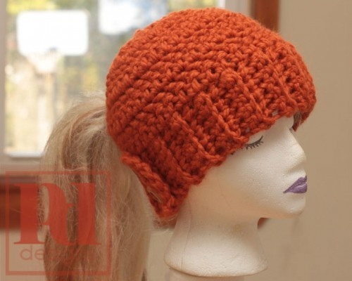 1000 images about Crochet ponytail hat on Pinterest
