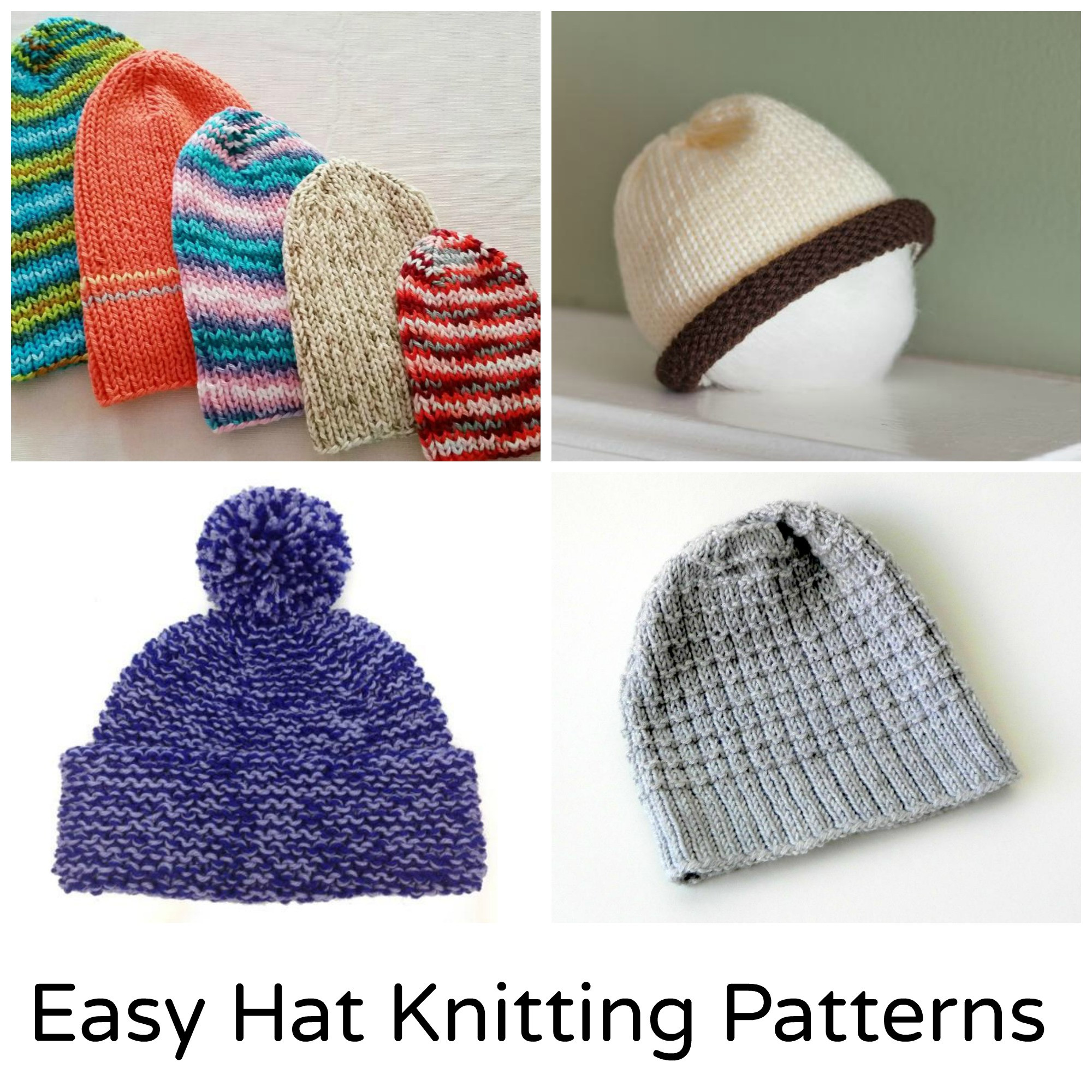 Elegant 12 Quick and Easy Knit Hat Patterns Easy Knitting Projects Of Awesome 42 Pics Easy Knitting Projects