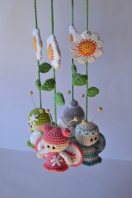Elegant 147 Best Crocheted butterflies All Crafted butterflies Crochet Baby Mobile Of Amazing 42 Ideas Crochet Baby Mobile