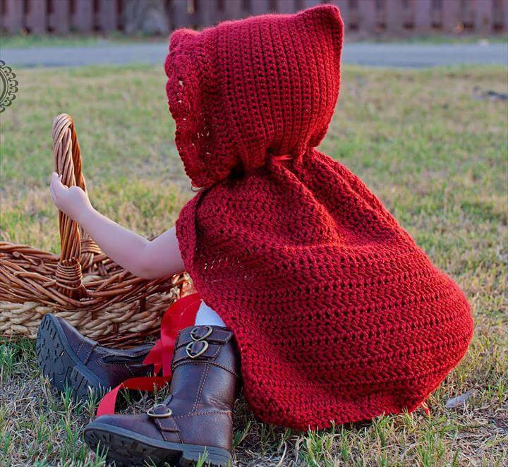 Elegant 16 Diy Ideas About Crochet Hooded Cap & Shawl Red Riding Hood Cape Pattern Of Charming 43 Pictures Red Riding Hood Cape Pattern