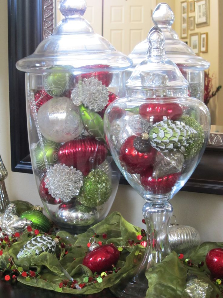 Elegant 17 Best Images About Apothecary Jar Displays On Pinterest Glass Christmas Decorations Of Superb 44 Pics Glass Christmas Decorations