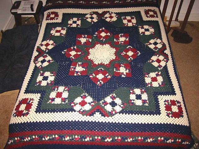 Elegant 17 Best Images About Blue Star Crocheted Afghan On Crochet Star Afghan Pattern Of New 45 Photos Crochet Star Afghan Pattern