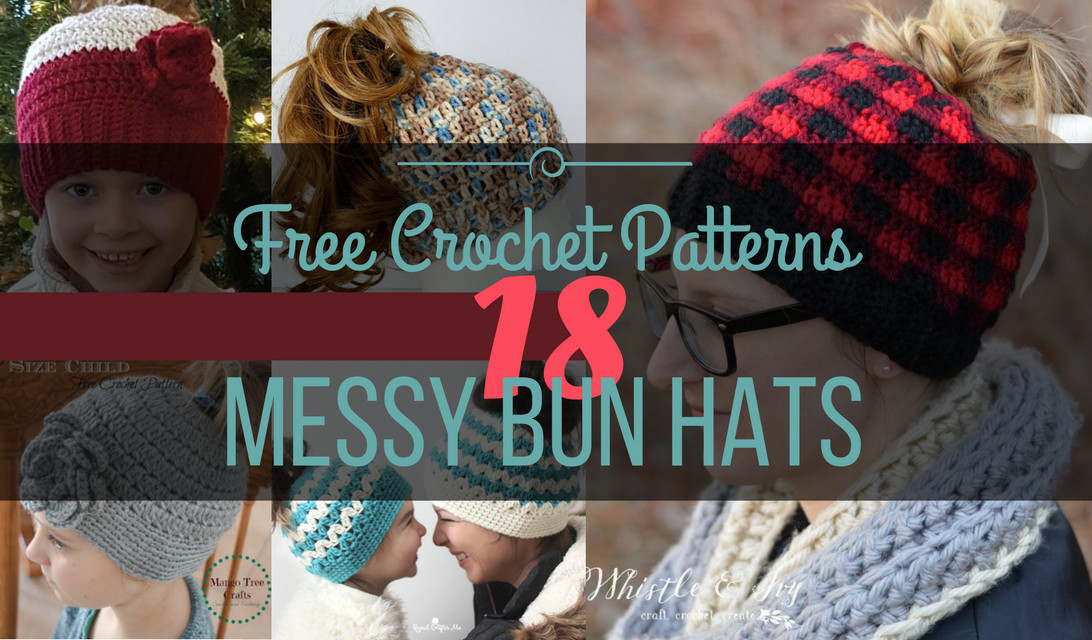 Elegant 18 Free Messy Bun Hat Crochet Patterns Make A Ponytail Free Messy Bun Hat Pattern Of Amazing 42 Ideas Free Messy Bun Hat Pattern