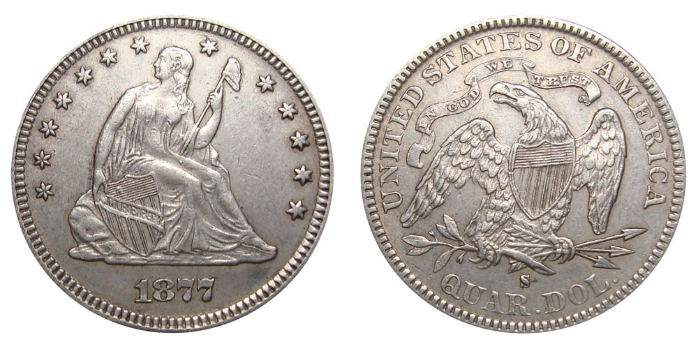 Elegant 1877 S Seated Liberty Quarters Value and Prices Liberty Quarter Value Of Contemporary 45 Photos Liberty Quarter Value