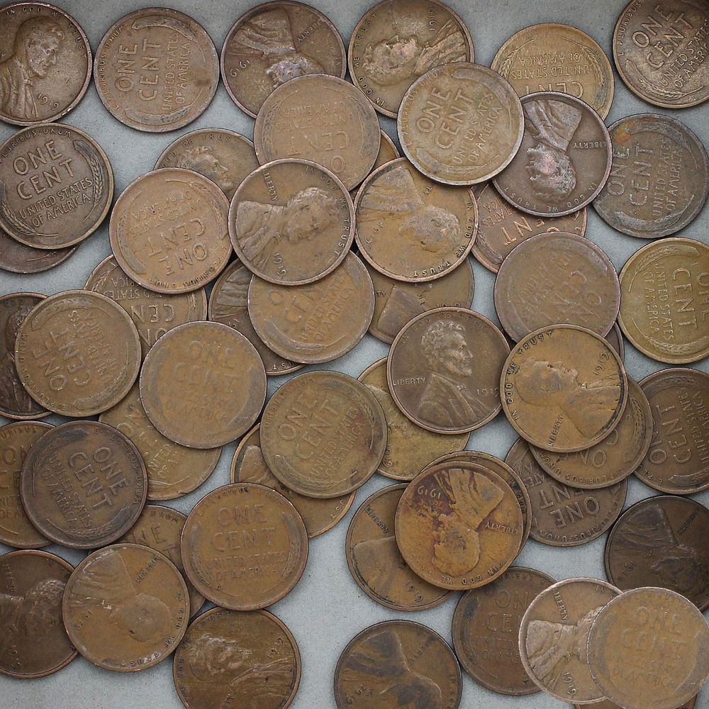 Elegant 1919 Lincoln Wheat Cent Roll 50 Circulated Pennies Us Wheat Penny Rolls Of Awesome 43 Photos Wheat Penny Rolls