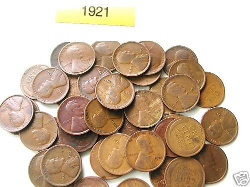 Elegant 1921 P Lincoln Wheat Cent Roll 50 Nice Coins Wheat Penny Rolls Of Awesome 43 Photos Wheat Penny Rolls