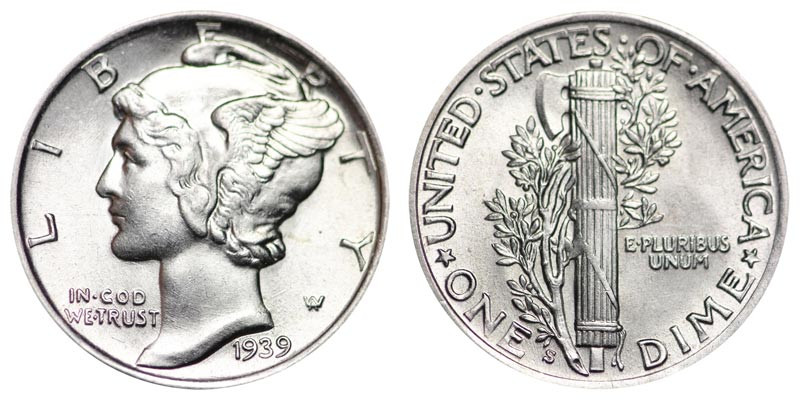 Elegant 1939 S Mercury Dimes Winged Liberty Silver Dime Value and Mercury Dime Prices Of Superb 49 Ideas Mercury Dime Prices